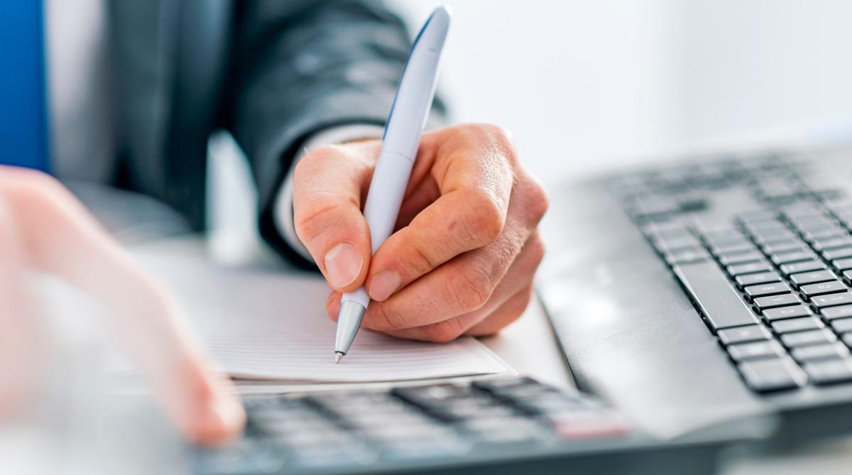 pen, schrijven, rekenmachine